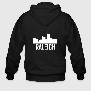 Raleigh Raleigh North Carolina City Skyline - Men's Zip Hoodie