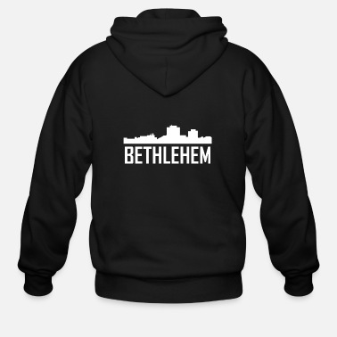 Bethlehem Bethlehem Pennsylvania City Skyline - Men's Zip Hoodie