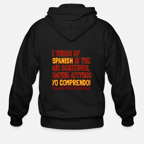 Spanish Hoodies & Sweatshirts - ELIZA HIGH SCHOOL SPANISH CLUB - Men's Zip Hoodie black
