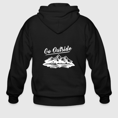 Go Outside the Great outdoors - Men's Zip Hoodie
