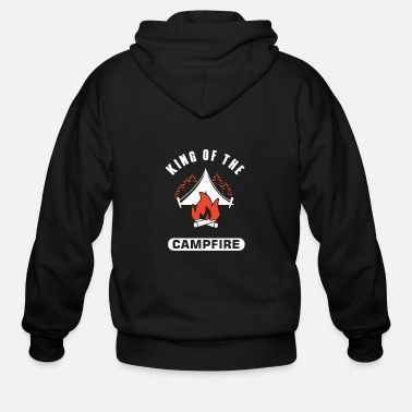 King Of The Campfire King Of The Campfire - Men's Zip Hoodie