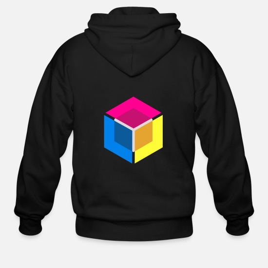 Optical Illusion Hoodies & Sweatshirts - pattern shirt - Men's Zip Hoodie black