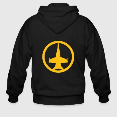 Movie - f/a-18 super hornet (yellow) usaf air su - Men's Zip Hoodie