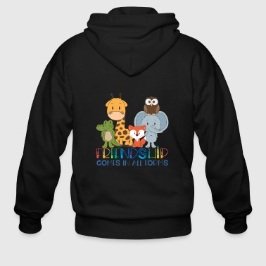 Friendship comes in all forms - Men's Zip Hoodie