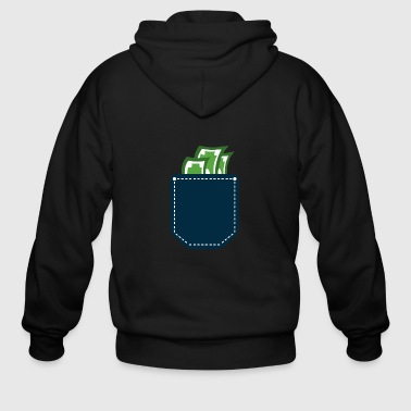 Money Cash Pocket - Men's Zip Hoodie