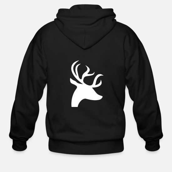 Reindeer Hoodies & Sweatshirts - Reindeer - Men's Zip Hoodie black
