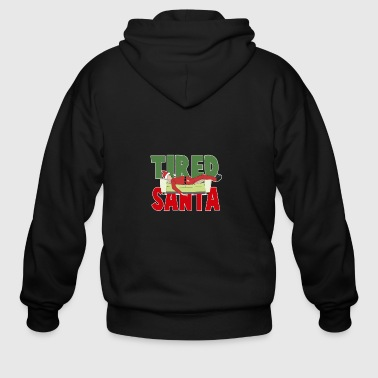 Rose Tired Santa - Men's Zip Hoodie
