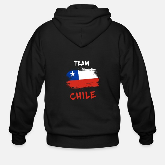 Chile Hoodies & Sweatshirts - Team Chile / Gift National Flag South America - Men's Zip Hoodie black