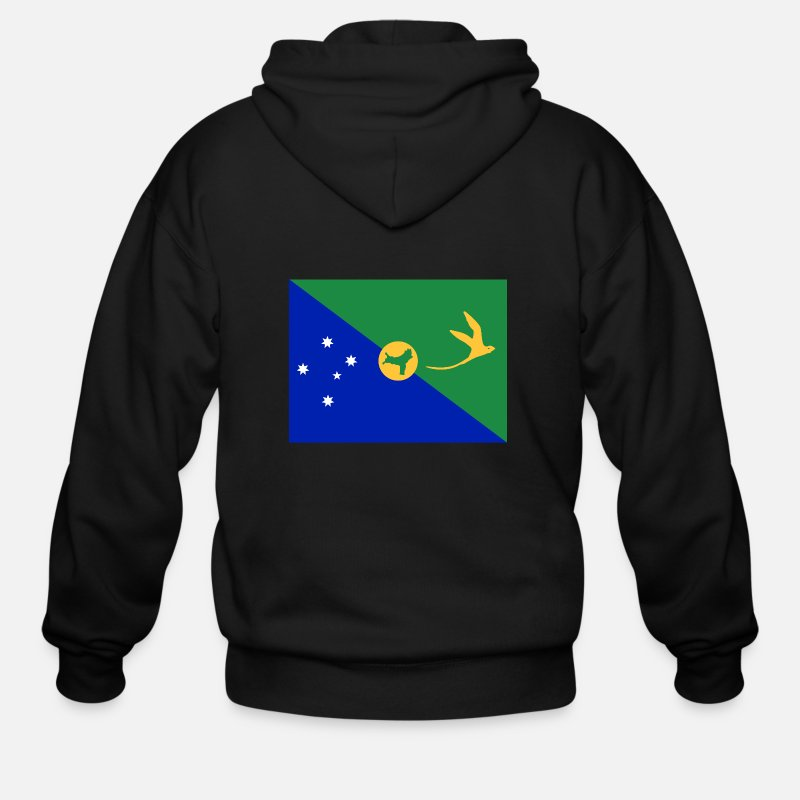 Christmas Island Flag.Flag Of Christmas Island Cx Men S Zip Hoodie Black