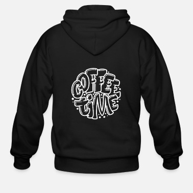 Coffee Time Round - Men's Zip Hoodie