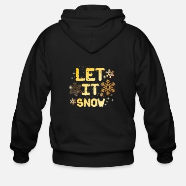 Nose Let it snow - Men's Zip Hoodie