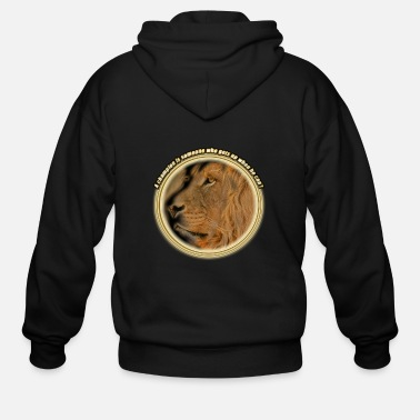 A champion is someone who gets up when he can't - Men's Zip Hoodie