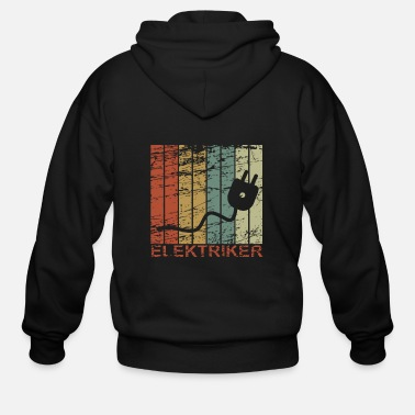 Birthday Electrician - Retro, Electricity, Electronics, Gif - Men's Zip Hoodie