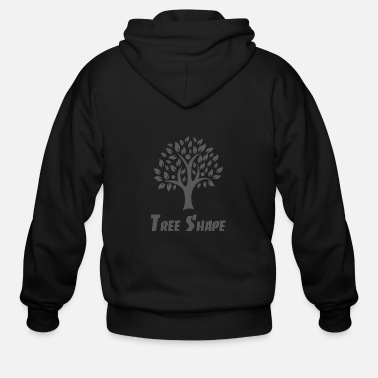 Rose Tree Shape - Men's Zip Hoodie
