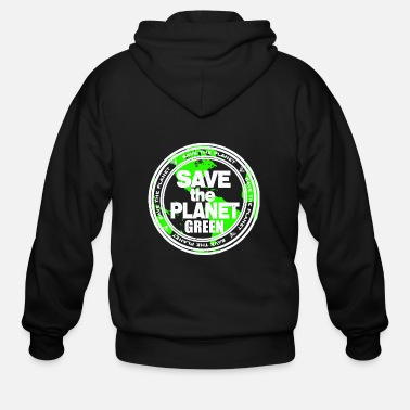 Flowercontest save the green planet flowercontest - Men's Zip Hoodie