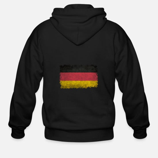 Vintage Hoodies & Sweatshirts - Flag of germany in retro - Men's Zip Hoodie black
