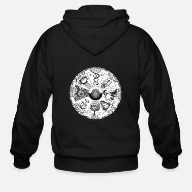 Wheel Wheel of the year with su - Men's Zip Hoodie