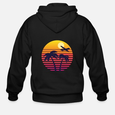 Vintage Sunset Design - Men's Zip Hoodie