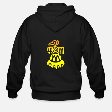 Pyramid Gold Inca Bird Tattoo Gift Idea - Men's Zip Hoodie
