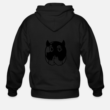 Darts devil ball - Men's Zip Hoodie