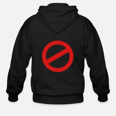 Prohibited prohibition sign - Men's Zip Hoodie