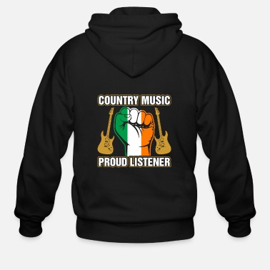 Irish Music Irish Country Music Proud Listner - Men's Zip Hoodie