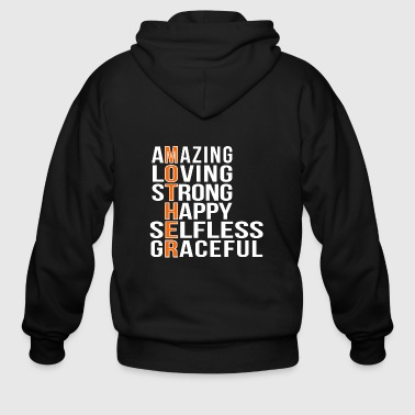 Motherfucker Mother - Amazing loving strong mother - Men's Zip Hoodie