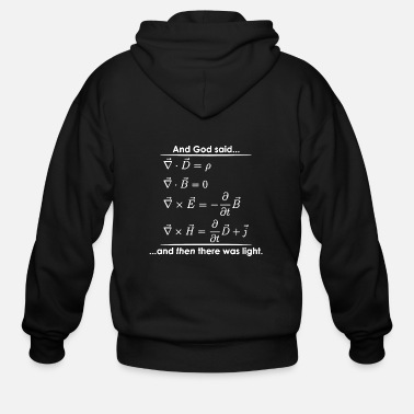 Religious God Said Then There was Light Science Religious - Men's Zip Hoodie