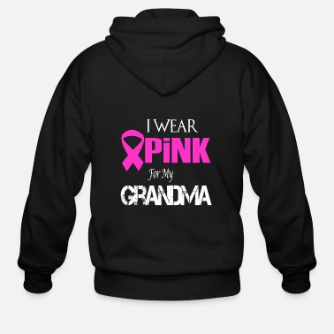 Pink ribbon - i wear pink for my grandmother bre - Men's Zip Hoodie