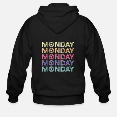 Week Love Monday Favourite Day Of The Week Gift - Men's Zip Hoodie