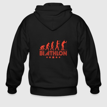 Retro Biathlon Evolution - Men's Zip Hoodie