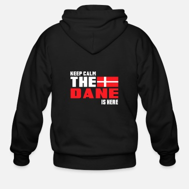 Denmark Keep calm the Dane is here - Men's Zip Hoodie