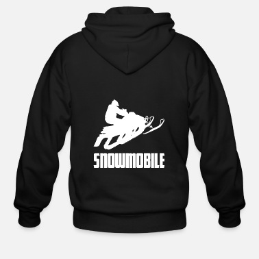 Winter Snowmobile Winter Sports Snow - Men's Zip Hoodie
