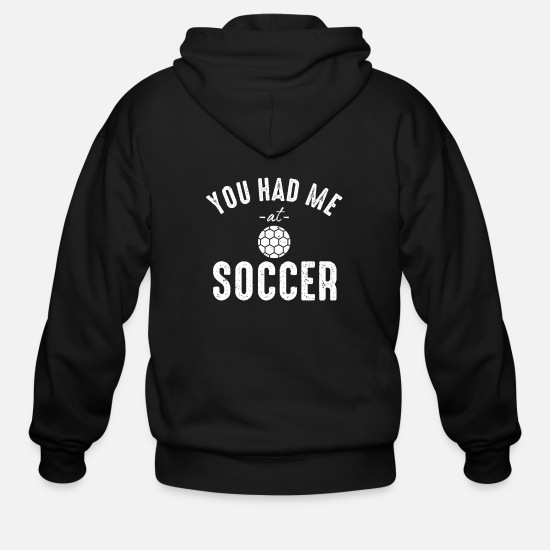 World Championship Hoodies & Sweatshirts - soccer footballer soccer district league goal - Men's Zip Hoodie black
