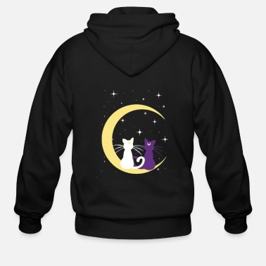 Twin TWINS CATS MOON - Men's Zip Hoodie