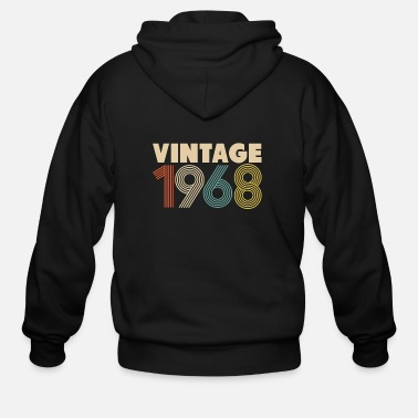 Vintage 50th Birthday Gift Vintage 1968 - Men's Zip Hoodie