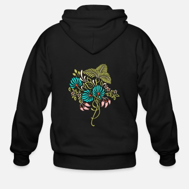 Flowercontest Cool spring bouquet of flowers flowercontest - Men's Zip Hoodie