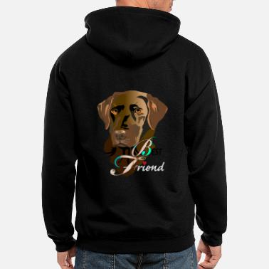 Dog Lover Best Friend - Men's Zip Hoodie
