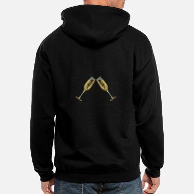 Champagne Champagne - Men's Zip Hoodie