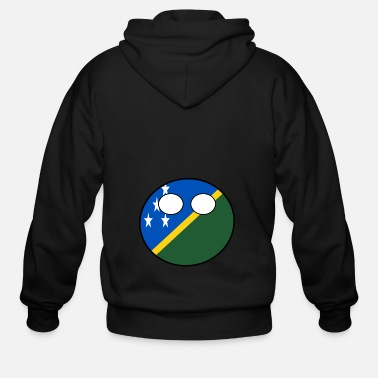 Countryball Laenderball Land Heimat Salomon Inseln - Men's Zip Hoodie