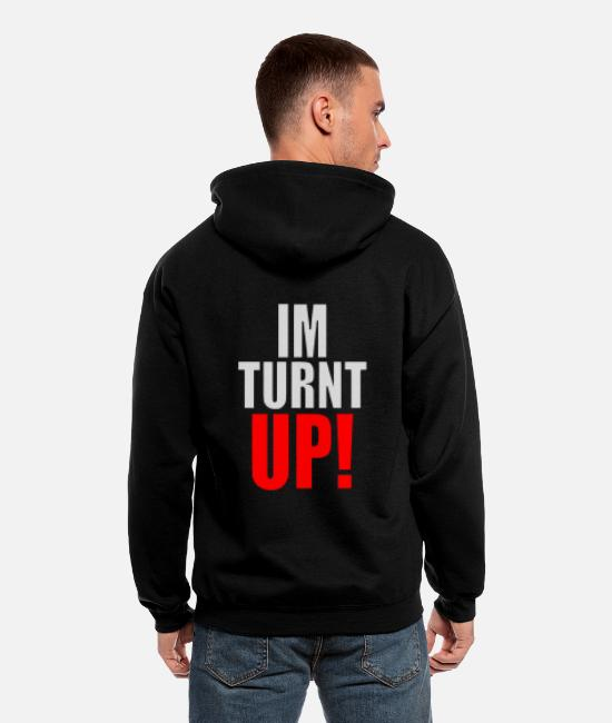 Arrow Hoodies & Sweatshirts - Im Turnt Up - Men's Zip Hoodie black