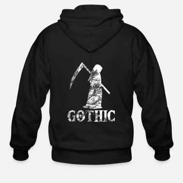 Emo Death, Dead, Gothic, EBM, EMO, Metal, Viking - Men's Zip Hoodie