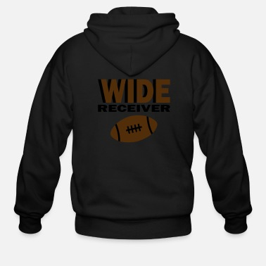 Wide Wide Receiver With Football - Men's Zip Hoodie