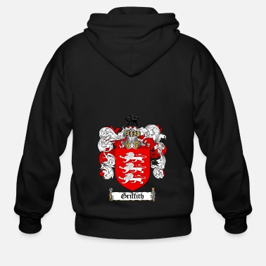 Crest GRIFFITH FAMILY CREST COAT OF ARMS1 - Men's Zip Hoodie