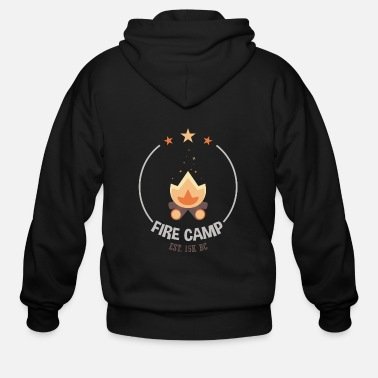 Camp Fire Fire Camp - Men's Zip Hoodie