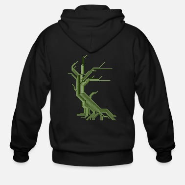 Circuit Tree - Men's Zip Hoodie