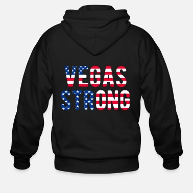 Las Vegas LAS VEGAS STRONG Flag T-Shirt - Men's Zip Hoodie