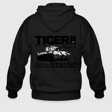 World War Ii Tiger II - Men's Zip Hoodie