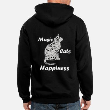Orchestra Music Cats Happiness Quote - Cat Lover - Men's Zip Hoodie