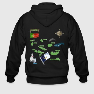 ACORES MAP FINAL FINAL WITH WOOD BOARD 111116a.png - Men's Zip Hoodie